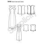 Naiste vintage kleit ja voodriga või voodrita vest, Simplicity Pattern # 8448