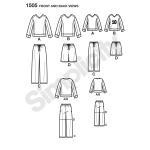 Pluss-poiste, pluss-meeste ja pikkade klassikalised pidžaamad ja hommikumantlid, topid ja püksid, suurused: A (S - L / 1XL - 5XL), Simplicity Pattern #1505