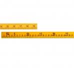 Kevyt muoviiviivain 1 m; 100 cm; 40` tuumaa