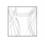 Clear View quilting foot ruler, 25,4 cm × 6,4 cm Yütien Design ST-10x2,5