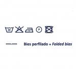 Velvet Folded Bias Binding / 18mm, `Vellut` / Byetsa