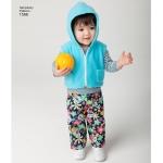 Väikelaste riietus, suurused: A (XXS-XS-S-M-L), Simplicity Pattern #1566