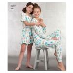 Girls and Misses knit Jumpsuit Romper, Sizes: A (S - L / XS - XL), Simplicity Pattern #8801