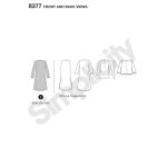 Naiste trikoo-cardigan mitmesuguste lõigetega disainihäkik, suurused: A (XXS-XS-S-M-L-XL-XXL), Simplicity Pattern #8377