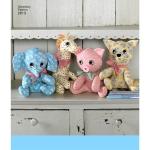 Kahest poolest koosnevad topistäidetavad mänguasjad, Simplicity Pattern #2613