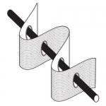 Iron fix Curtain Tape with eyelet holes 100 mm, TZ18