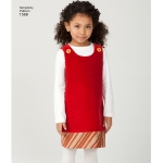 Laste jumper, kleitid, vest, püksid ja seelik, suurused: A (3-4-5-6-7-8), Simplicity Pattern #1568