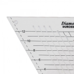 Šabloon-joonlaud, 60°, 18cm × 21cm Duroedge KT-6010