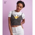 Naiste rinnahoidja-topid, suurused: A (XXS-XS-S-M-L-XL-XXL), Simplicity Pattern # 8549