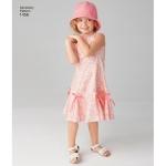 Laste ja tüdrukute kleit variatsioonidega ja müts, Simplicity Pattern #1456