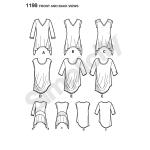 Naiste trikoo-topid kahes stiilis, suurused: A (XXS-XS-S-M-L-XL-XXL), Simplicity Pattern #1198