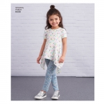 Child and Girls knit Tunics in Two Lengths and Leggings, Simplicity Pattern #8430
