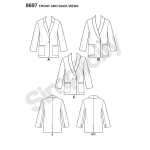 Naistele ja Pluss-suurustele naistele bleiser, Simplicity Pattern #8697