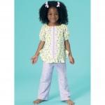 Girls`/46cm (18`) Dolls` Top, Gown and Pants, Kwik Sew K0213