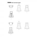 Laste kleit, suurused: A (3-4-5-6-7-8), Simplicity Pattern #S8896
