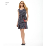 Women`s Jiffy® Reversible Wrap Dress, Simplicity Pattern #1356