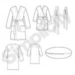 Õpi Õmblemist: Laste, teismeliste ja täiskasvanute hommikumantel, suurused: A (XS - L / XS - XL), Simplicity Pattern #1946