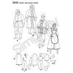 Adult Costumes, Simplicity Pattern #2542