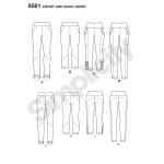 Naiste retuusid, suurused: AA (XS-S-M-L-XL), Simplicity Pattern #8561