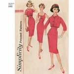 Naiste vintage kleit ja jakid, Simplicity Pattern #8460