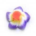 Kirjud, mustrilised, polümeersavist lillekujulised helmed 16x10mm, värvisegu