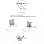 Lõikejääkide alus, universaalselt kasutatav, Baby Lock