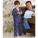 Women`s/Men/Child Sleepwear, Sizes: A (XS-L / XS-XL), Simplicity Pattern #3935