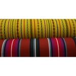 Tugevam puuvillane kangas prinditud mustriga, Muhu saare värvides