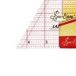 Läpinäkyvä kolmioviivain tuumissa, 9¼` tuumaa, 60°, (23,5cm × 23,5cm × 23,5cm), SewEasy NL4174