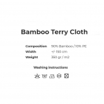 Bambusviskoosist pehme froteekangas, 150cm, 008250