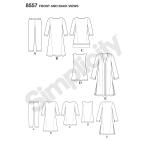 Women's / Petite Women's Sportswear, Sizes: A (XXS-XS-S-M-L-XL-XXL), Simplicity Pattern #8557