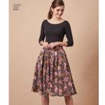 Naiste volditud seelikud, Simplicity Pattern # 8743