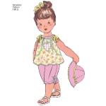Väikelaste kleit ja riietus, suurused: A (XXS-XS-S-M-L), Simplicity Pattern #1813