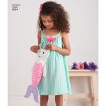 Laste kleit, topp, shortsid ja kott, suurused: A (3-4-5-6-7-8), Simplicity Pattern #8564