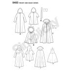 Laste keep-kostüümid, suurused: A (S-M-L) Simplicity Pattern #8483