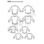 Naiste trikoosviitrid, suurused: A (XS-S-M-L-XL), Simplicity Pattern # 8529