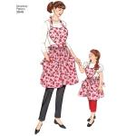Child and Women`s Aprons, Sizes: A (S-M-L / S-M-L), Simplicity Pattern #3949