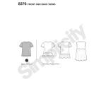Naiste trikookleit, topp mitmesuguste lõigetega disainihäkiks, suurused: A (XXS-XS-S-M-L-XL-XXL), Simplicity Pattern #8376