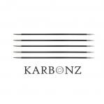 Süsinikkiust normaalpikkuses sukavardad KnitPro Karbonz 20cm Metallotstega Karbonz sukavardad