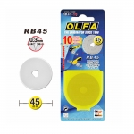 Replacement Rotary CutterBlades; 10 pcs, ø45 mm, OLFA (Japan), RB45-10