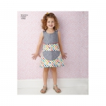 Child`s Dress and Dress for 18` Doll, Sizes: A (3-4-5-6-7-8), Simplicity Pattern #1379
