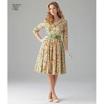 Women`s and Petite 1950`s Vintage Dress, Simplicity Pattern #1459