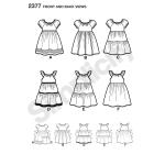 Laste kleidid, suurused: A (3-4-5-6-7-8), Simplicity Pattern #2377