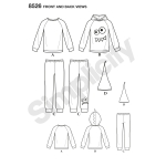 Toddler & Child knit Tops, Trousers & Hat, Sizes: A (1/2-1-2-3-4-5-6-7-8), Simplicity Pattern #8526
