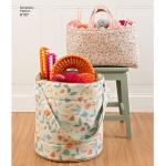 Bucket, Basket & Tote Organizers, Sizes: OS (ONE SIZE), Simplicity Pattern #8107