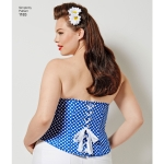 Women`s and Plus Size Corsets, Simplicity Pattern #1183