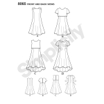 Girls` and Girls` Plus Dress or Popover Dress, Simplicity Pattern #8065