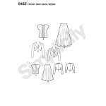 Naiste vintage 40`ndate pluus, särk ja voodriga bolerp, Simplicity Pattern #8462