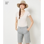 Imeliselt Istuv: naistele ja pluss-suuruses naiste alt laienevad püksid või shortsid, Simplicity Pattern #8056