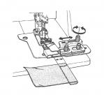 Kanga serva pööramisseade kattemasinatele Bernina ja JUKI, Art. 40177371